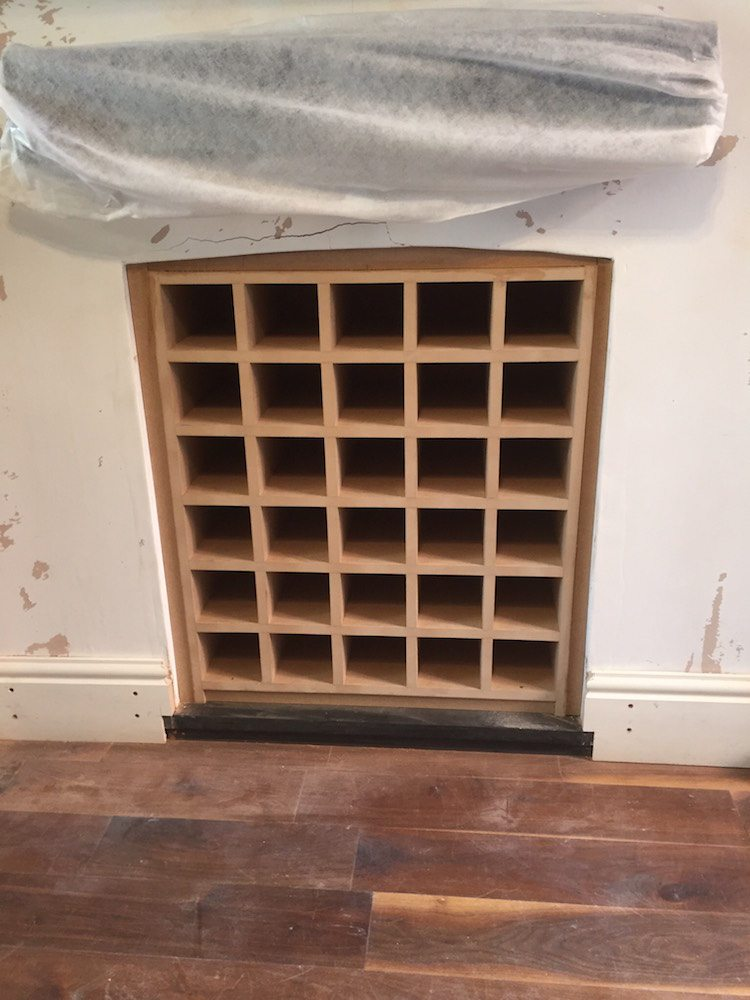 Bookcase & Fireplace Wine Rack | Carpentry by Craig Ross